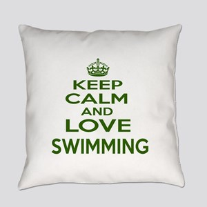 Keep calm and love Swimming Everyday Pillow