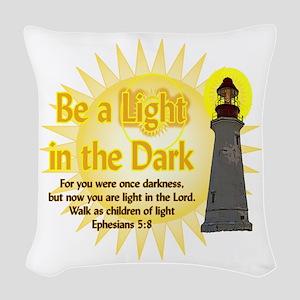 Light in the dark Woven Throw Pillow