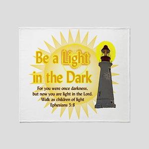Light in the dark Throw Blanket