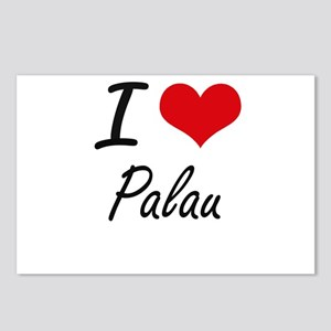 I Love Palau Artistic Des Postcards (Package of 8)