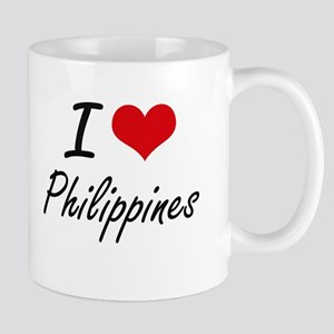 I Love Philippines Artistic Design Mugs