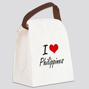 I Love Philippines Artistic Desig Canvas Lunch Bag