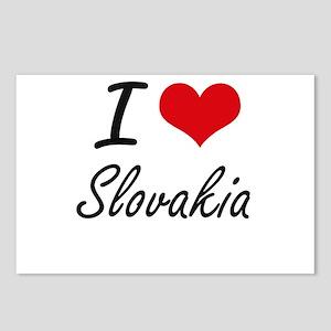 I Love Slovakia Artistic Postcards (Package of 8)