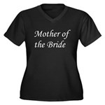 Mother of the Bride Women's Plus Size V-Neck Dark