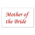 Mother of the Bride Rectangle Sticker