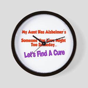 Aunt has Alzheimer's Wall Clock