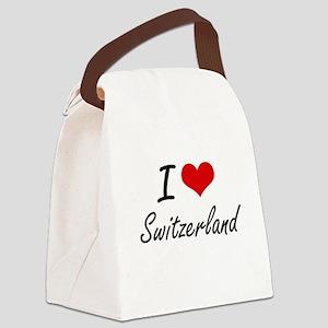 I Love Switzerland Artistic Desig Canvas Lunch Bag