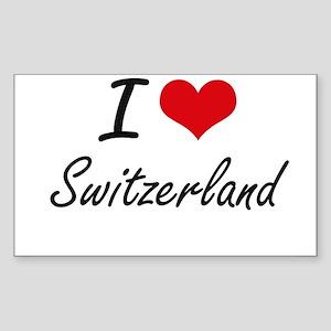 I Love Switzerland Artistic Design Sticker