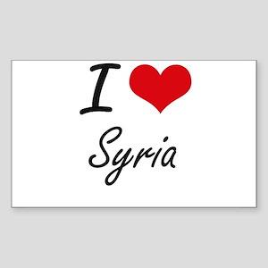 I Love Syria Artistic Design Sticker