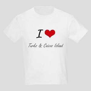 I Love Turks & Caicos Island Artistic Desi T-Shirt