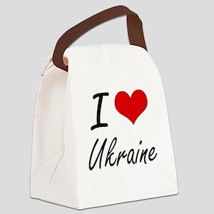 I Love Ukraine Artistic Design Canvas Lunch Bag