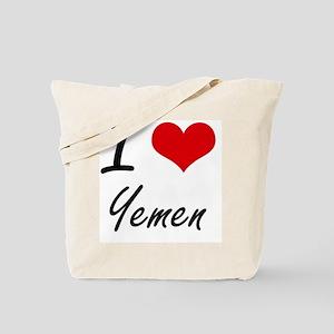 I Love Yemen Artistic Design Tote Bag