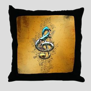 Beautiful, decorative clef Throw Pillow