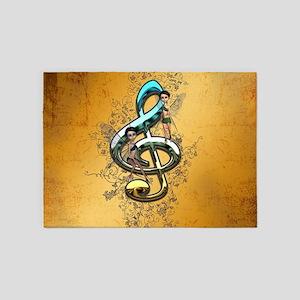 Beautiful, decorative clef 5'x7'Area Rug