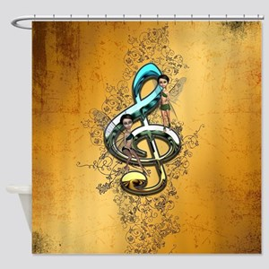 Beautiful, decorative clef Shower Curtain