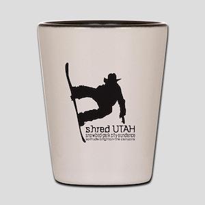 Utah Snowboarding Shot Glass
