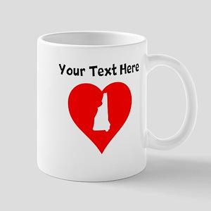 New Hampshire Heart Cutout Mugs