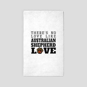 Australian Shepherd Love Area Rug