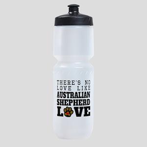 Australian Shepherd Love Sports Bottle