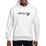 Michael Script + Feather Hooded Sweatshirt