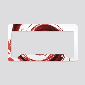 Bloody Spiral License Plate Holder