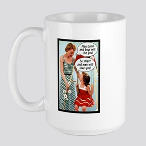 Retro Mother & Daughter Large Mug