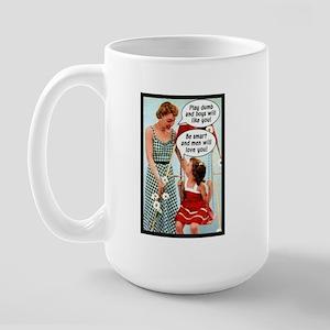 Retro Mother & Daughter Large Mug