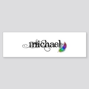 Michael Scipt + Feather Sticker (Bumper)