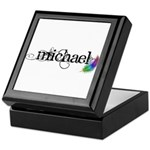 Michael Scipt + Feather Keepsake Box