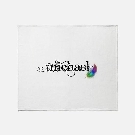 Michael Scipt + Feather Throw Blanket