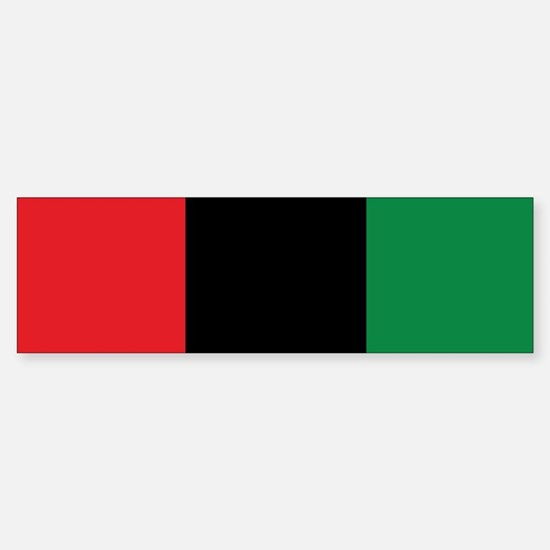 The Red, Black and Green Flag Bumper Bumper Bumper Sticker