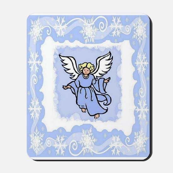 ANGEL AND SNOWFLAKES Mousepad