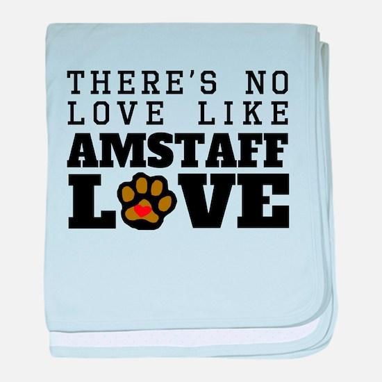 AmStaff Love baby blanket