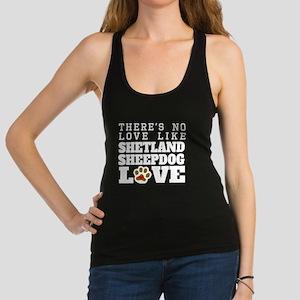 Shetland Sheepdog Love Racerback Tank Top