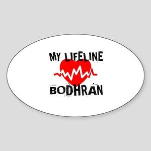 My Life Line Bodhran Sticker (Oval)