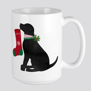 Christmas Black Lab Preppy Dog Mugs