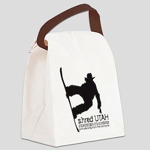 Utah Snowboarding Canvas Lunch Bag