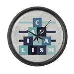 Capitalism Large Wall Clock