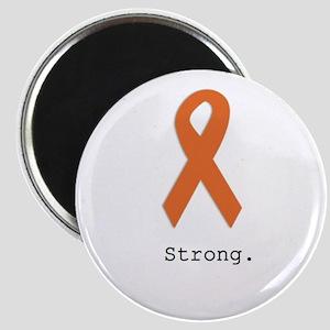 Strong. Orange ribbon Magnets