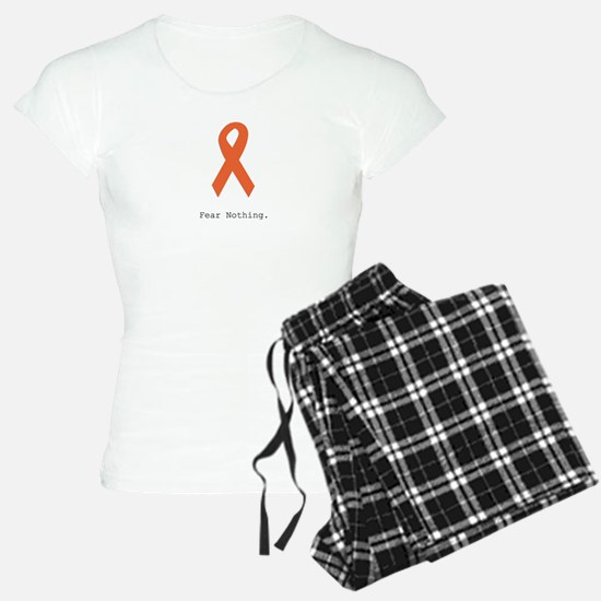 Fear Nothing. Orange Ribbon Pajamas