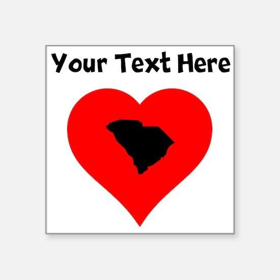 South Carolina Heart Sticker