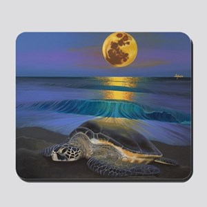 Sea Turtle Full Moon Mousepad