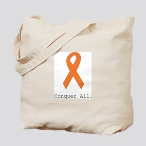 Conquer All. Orange Rib Tote Bag
