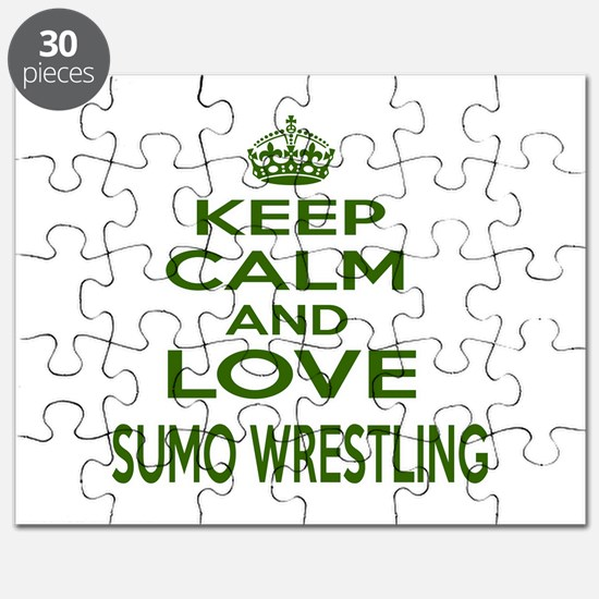 Keep calm and love Sumo Wrestling Puzzle