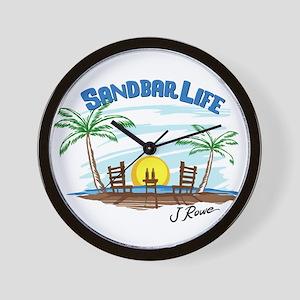 J Rowe Sandbar Life Wall Clock
