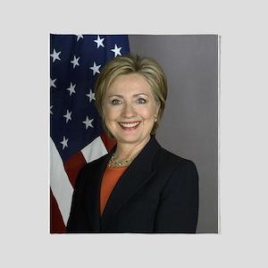 Hillary Clinton Throw Blanket