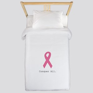Conquer All. Pink Rib Twin Duvet