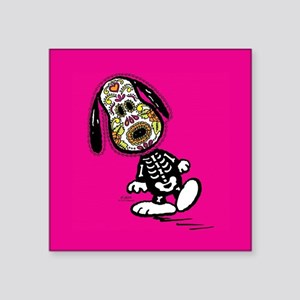 "Day of the Dog Snoopy Square Sticker 3"" x 3"""