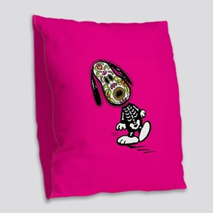 Day of the Dog Snoopy Burlap Throw Pillow