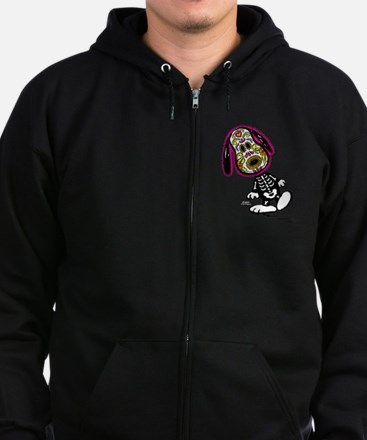 Day of the Dog Snoopy Zip Hoodie (dark)
